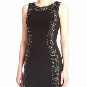 Calvin Klein Black Studded Sheath Dress Size 8